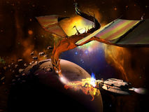 Leviathan Spacial Imagem de Stock Royalty Free