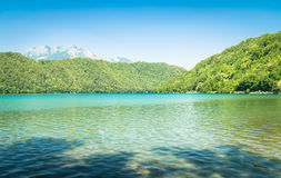 Levico Lake, a beautiful lake in Italy. Stock Images