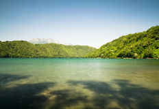 Levico Lake, a beautiful lake in Italy. Royalty Free Stock Photo
