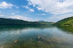 Levico Lake - Levico Terme Trentino Italy Royalty Free Stock Photography