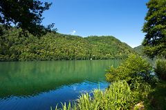 Levico sjö - Trentino Italien Arkivfoto