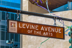 Levine avenue of the arts street sign Royalty Free Stock Photo