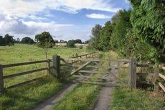 Levington, Suffolk, UK. Wooden gate, Levington, Suffolk, England Stock Photos