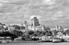 From Levis Chateau Frontenac of Old Quebec Royalty Free Stock Images