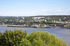 Levis City skyline and St. Lawrence River, Quebec Royalty Free Stock Photo