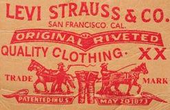 Levis de la insignia Foto de archivo libre de regalías
