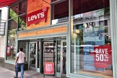 Levis fashion store Royalty Free Stock Photo