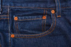 Levis Jeans, fabric, denim indigo Stock Photography