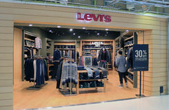 Levis shop in hong kong Royalty Free Stock Photo