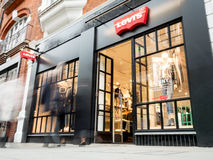 Levis store, Covent Garden, London Royalty Free Stock Photo