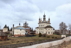 Levitan shades of Russian bad weather Yuryev-polsky, Russia. Golden Ring of Russia. In the territory of Archangel Michael monastery in Yuryev-Polsky royalty free stock photo