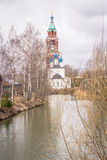 Levitan shades of Russian bad weather Yuryev-polsky, Russia. Golden Ring of Russia. In the territory of Archangel Michael monastery in Yuryev-Polsky stock photos