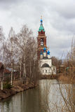Levitan shades of Russian bad weather Yuryev-polsky, Russia. Golden Ring of Russia. In the territory of Archangel Michael monastery in Yuryev-Polsky royalty free stock images