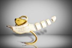 Levitating банан Стоковое фото RF