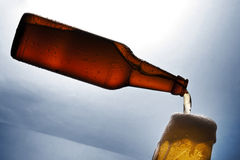 Levitating beer Stock Image