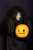 Levitating Halloween pumpkin Stock Photo