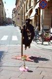 Levitating street performer Royalty Free Stock Photo