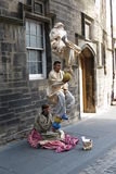 Levitating street performers in Edinburgh Stock Images