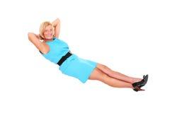 Levitating woman royalty free stock photography