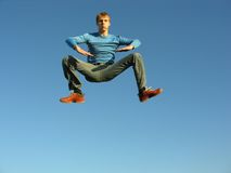 Levitation boy Royalty Free Stock Photo