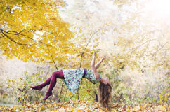 Levitation portrait of young woman Royalty Free Stock Images