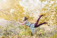 Levitation portrait of young woman Stock Images