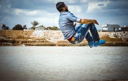 Jumping boy,levitation Royalty Free Stock Photos