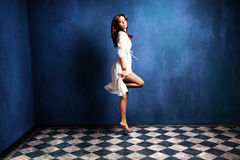 Levitation woman Royalty Free Stock Images