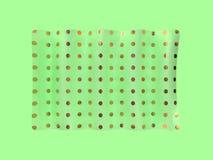 levitazione astratta 3d della bandiera dell'oro verde rendere illustrazione vettoriale
