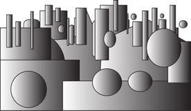 Levitazione geometrica Immagine Stock