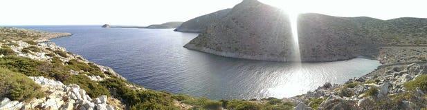 Levithaeiland in Griekenland Stock Foto