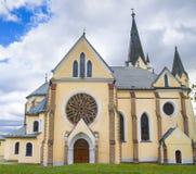 Levoca - basilique de visite de Vierge Marie Images stock