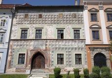 Levoca - facade of old renaissance house Stock Photo
