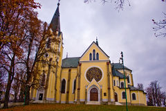 Levoca monastery in the old town. In fall Royalty Free Stock Photos