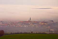 Levoca  old town view from the hill. In slovakia Stock Photography