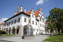 Levoca - renässansstadshus - Slovakien Arkivfoton