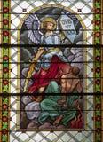 Levoca - Saint Michel - windowpane Royalty Free Stock Photo