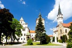 Levoca, Slovakia. Square of Master Paul, Levoca, Slovakia Stock Photos