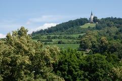 Levoca, Slovakia. Basilica of Visitation of Virgin Mary on the Marianska hora near town Levoca, northern Slovakia royalty free stock photography