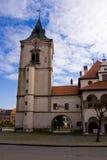 Levoca Stadtzentrumkontrollturm Stockbild