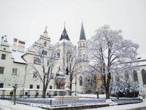 Levoca in winter, Slovakia Stock Images