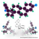 Levonorgestrel molecule structure Stock Image