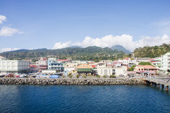 Levy on Coast of Dominica by Rosseau Royalty Free Stock Image