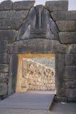 Lew brama przy antycznym Mycenae Zdjęcie Royalty Free