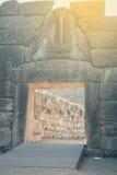 Lew brama przy antycznym Mycenae 2 Fotografia Stock