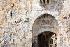 Lew brama, Stara miasto ściana, Jerozolima Obraz Stock