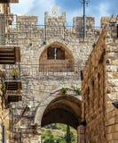 Lew brama, Stara miasto ściana, Jerozolima Obrazy Stock