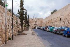 Lew brama, Stara miasto ściana, Jerozolima Fotografia Royalty Free