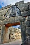 Lew brama w antycznym Mycenae, Grecja Obrazy Stock