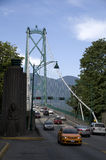 Lew bramy most Vancouver Obraz Stock